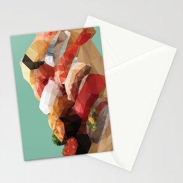 Nigiri Sushi Platter Polygon Art Stationery Cards