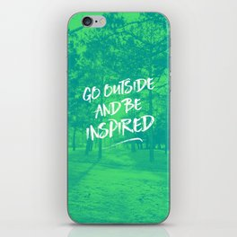 Go Outside and Be Inspired - forest photograph iPhone Skin