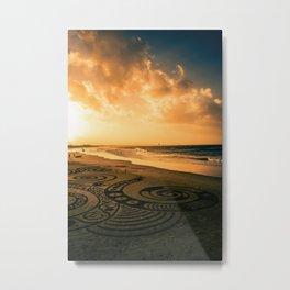 Beach Art, Byron Bay Metal Print