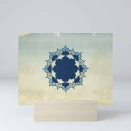 Lotus Mandala Sand Water Wash Mini Art Print