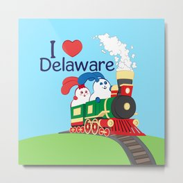 Ernest and Coraline | I love Delaware Metal Print