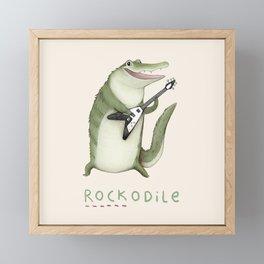 Rockodile Framed Mini Art Print