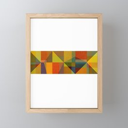 Color and Pattern Study Panorama Framed Mini Art Print