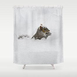 The groundhog said what Shower Curtain