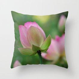 Lotus flowers Throw Pillow