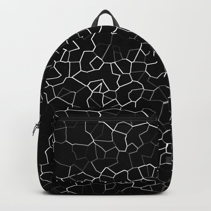 White on Black Crackle Backpack