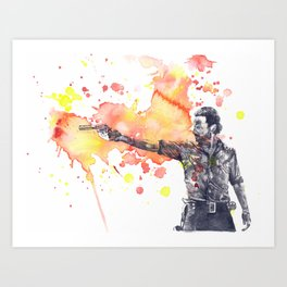Portrait of Rick Grimes from The Walking Dead Art Print