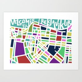 Welcome to Reykjavik Art Print