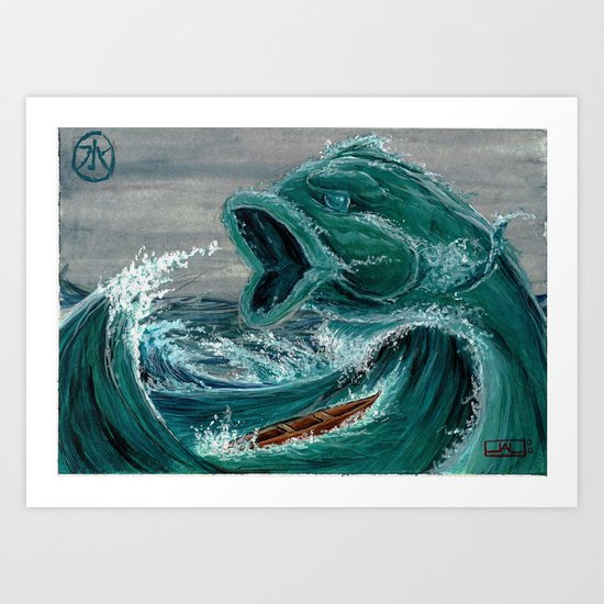 Koi Series, Elementals-Water Art Print