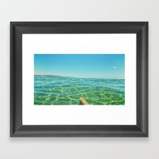 Staycation, yeah right. Framed Art Print