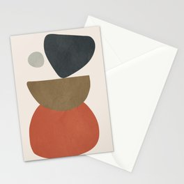 Abstract Balancing Stones Stationery Cards
