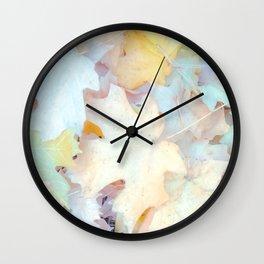Pastel Autumn Leaves, Fall Nature Photography by Murray Bolesta Wall Clock