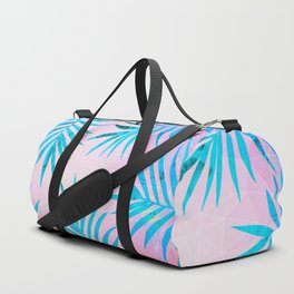 Refreshing Geometric Palm Tree Leaves Tropical Chill Design Duffle Bag