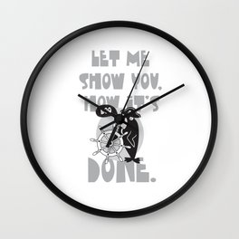 how it's done Wall Clock