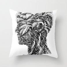 Portrait of Winter Throw Pillow