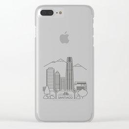 Santiago en línea Clear iPhone Case