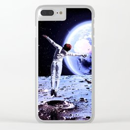 Moon fencing Clear iPhone Case