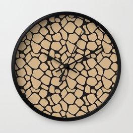 Black and Tan Rock Pattern Wall Clock