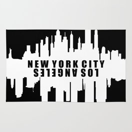 New York City / Los Angeles Skyline Rug