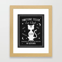 Fortune Teller Psychic Cat Framed Art Print