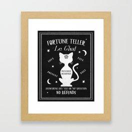 Fortune Teller Psychic Cat Framed Art Print