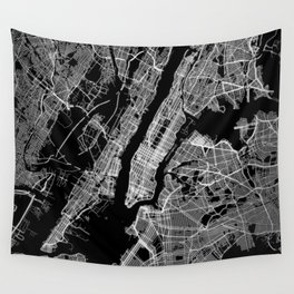 New York map Wall Tapestry