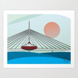 Esplanade Riel Art Print