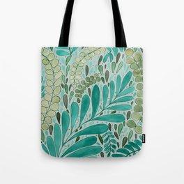Green Leaf Pattern Tote Bag