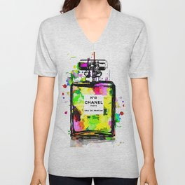 No 19 Colored Unisex V-Neck