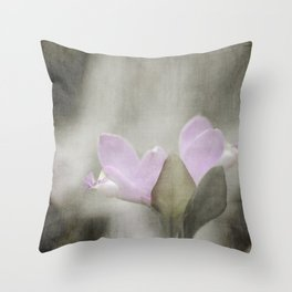 Fringed Polygala Throw Pillow