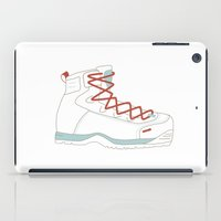 hiking iPad Cases featuring Hiking Boot by Yellow Chair Design