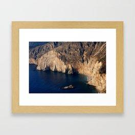 The cliffs of Cephalonia Framed Art Print