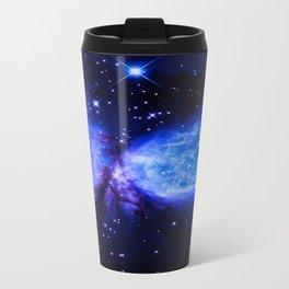 Space Galaxy : a star is born Midnight Blue Violet Travel Mug