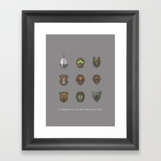 It's Dangerous to Raid Alone… Framed Art Print