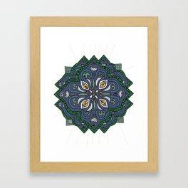 Lively Earth Mandala - v.4 Framed Art Print