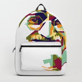 Mahatma Gandhi in colorful popart style Backpack