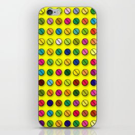 Multi-coloured Pills Pattern iPhone Skin