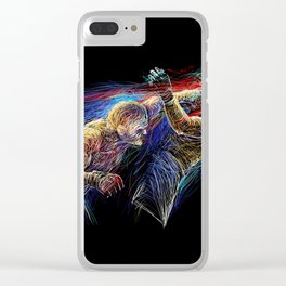 Crazy Fighters Clear iPhone Case
