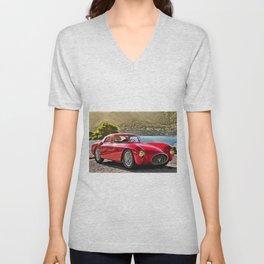 Vintage 1954 Italian Roadster A6GCS Berlinetta Pinin Farina Painting Unisex V-Neck