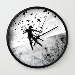 Birds in the head Wall Clock