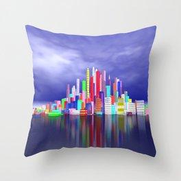 city in nowhereland Throw Pillow
