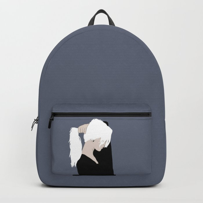 White Hair Beauty Backpack