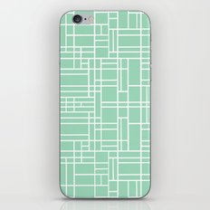 Map Outline Mint iPhone & iPod Skin
