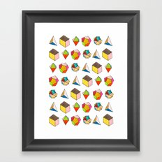 Platonic Solids Framed Art Print
