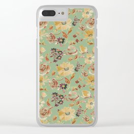 summer watercolor neutral Clear iPhone Case