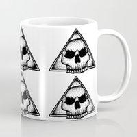 illuminati Mugs featuring Skull Illuminati  by Sam Winters