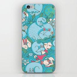 Sleepy Animal Forest iPhone Skin