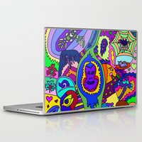 psychadelic Laptop & iPad Skins featuring Abstract 18 by Linda Tomei