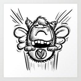 Buzzy Monster Art Print