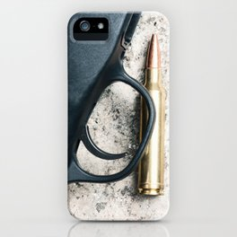 Rifle and a Bullet iPhone Case